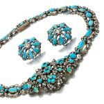 Turquoise and diamond demi-parure, 1840s and later
