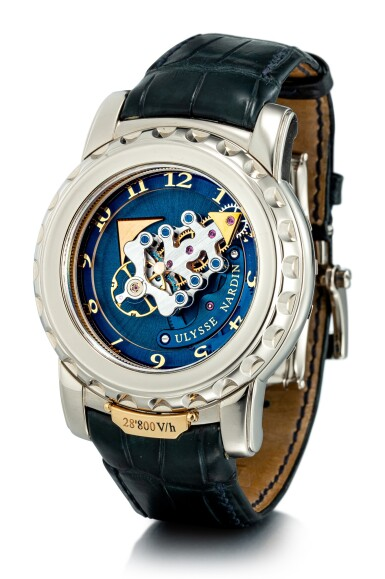 View 2. Thumbnail of Lot 2014. ULYSSE NARDIN  |  FREAK, REFERENCE 020-88  A WHITE GOLD CARROUSEL TOURBILLON WRISTWATCH WITH DUAL DIRECT ESCAPEMENT, CIRCA 2007 | 雅典 | .