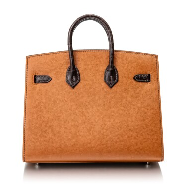 View 4. Thumbnail of Lot 8513. Limited Edition Birkin Faubourg 20cm in Madame, Matte Crocodile, Sombrero, Epsom and Swift Leather with Palladium Hardware, 2020.