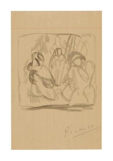 View 1. Thumbnail of Lot 3. PABLO PICASSO   SAINT ANTOINE ET ARLEQUIN.