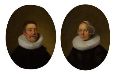 View 1. Thumbnail of Lot 1. DIRCK VAN DER LISSE | Portrait of a gentleman; and Portrait of a lady.
