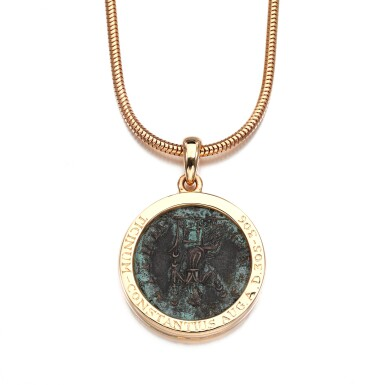 View 4. Thumbnail of Lot 27. Coin necklace, 'Monete'.