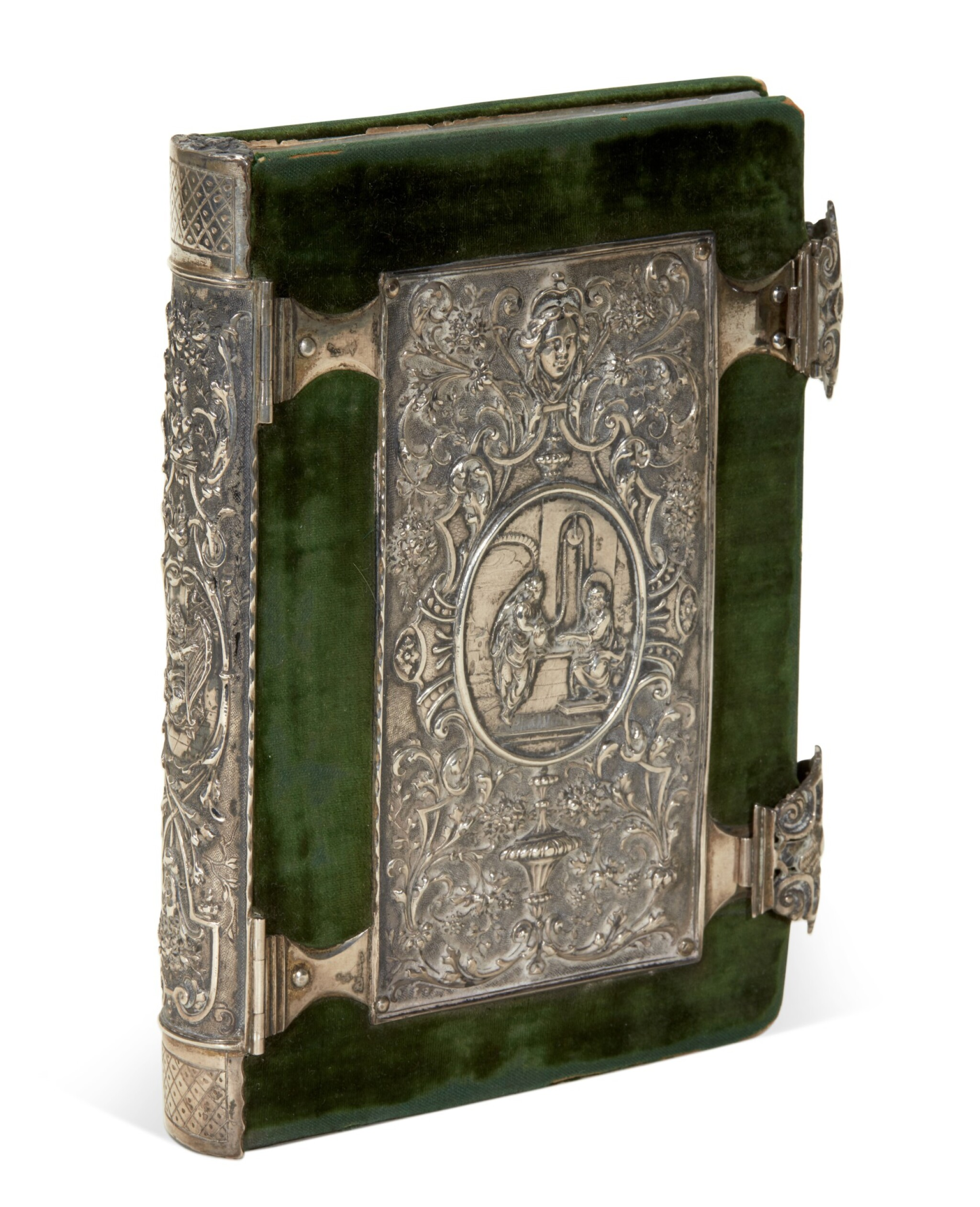 View full screen - View 1 of Lot 109. [Dürer], A set of engravings copied from Dürer's Small Passion, in a silver binding.