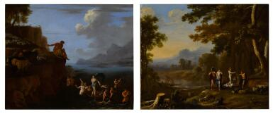 View 1. Thumbnail of Lot 26. Polyphemus and Galatea; The Judgment of Paris.