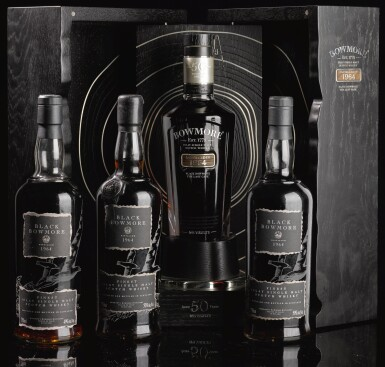 View 4. Thumbnail of Lot 321.  BOWMORE BLACK SECOND RELEASE 50.0 ABV 1964  .