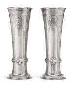 A Massive Pair of American Silver Tall Vases, Tiffany & Co., New York, circa 1909