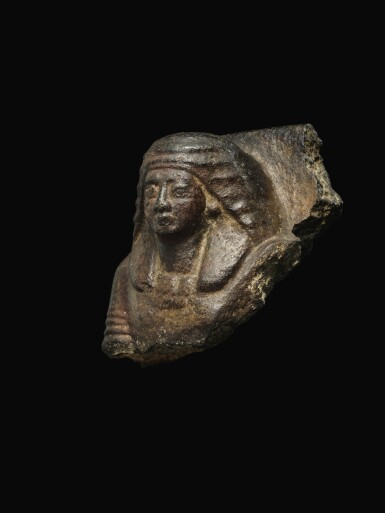 View 2. Thumbnail of Lot 54. AN EGYPTIAN GRANITE BUST OF MAN, 19TH/20TH DYNASTY, 1292-1075 B.C..
