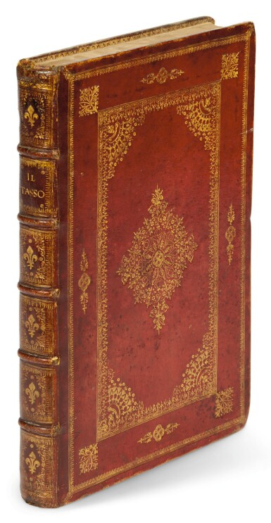 Tasso, La Gerusalemme liberata, Genoa, 1617, contemporary French red morocco gilt
