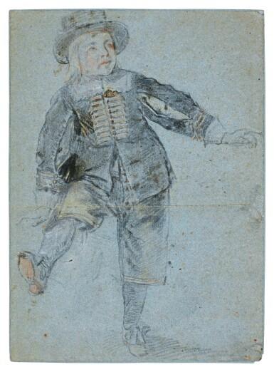 DUTCH SCHOOL, 17TH CENTURY   STUDY OF A BOY STANDING ON ONE LEG
