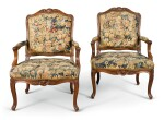 A PAIR OF LOUIS XV CARVED BEECHWOOD FAUTEUILS À LA REINE, CIRCA 1755