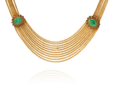 View 2. Thumbnail of Lot 58. JADE AND SAPPHIRE NECKLACE (COLLANA IN GIADA E ZAFFIRI).