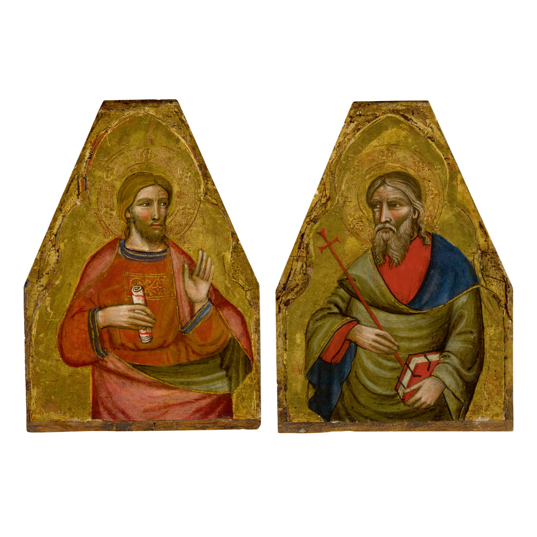 View full screen - View 1 of Lot 105. MASTER OF TEPLICE   SAINT ANDREW AND A MALE SAINT.