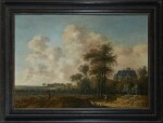 JACOB VAN DER CROOS | LANDSCAPE WITH A VIEW OF HUIS TEN BOSCH PALACE
