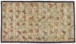 CANADIAN POLYCHROME SCATTERED FLOWER DECORATED HOOKED RUG, FOUND IN NOVA SCOTIA, EARLY 20TH CENTURY