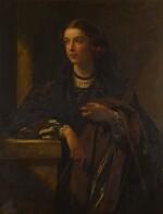 JAMES SANT, R.A. | PORTRAIT OF HELEN MASON DRESSED IN SPANISH COSTUME