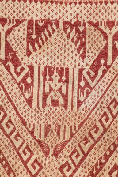 """View 2. Thumbnail of Lot 4. Deux tissus cérémoniels """"à jonques"""" tampan, Lampung, Sumatra, Indonésie, début du 20e siècle   Two ceremonial """"ship clothes"""" tampan, Lampung, Sumatra, Indonesia, early 20th century."""