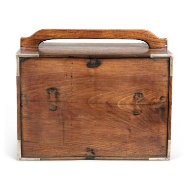 View 5. Thumbnail of Lot 117. A small 'huanghuali' portable cabinet (Yaoxiang), Qing dynasty, 18th / 19th century | 清十八 / 十九世紀 黃花梨插門式藥箱.