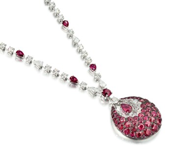 View 2. Thumbnail of Lot 1849. 'Bombé Classic' Ruby and Diamond Pendent Necklace | 格拉夫 | 'Bombé Classic' 紅寶石 配 鑽石 項鏈.