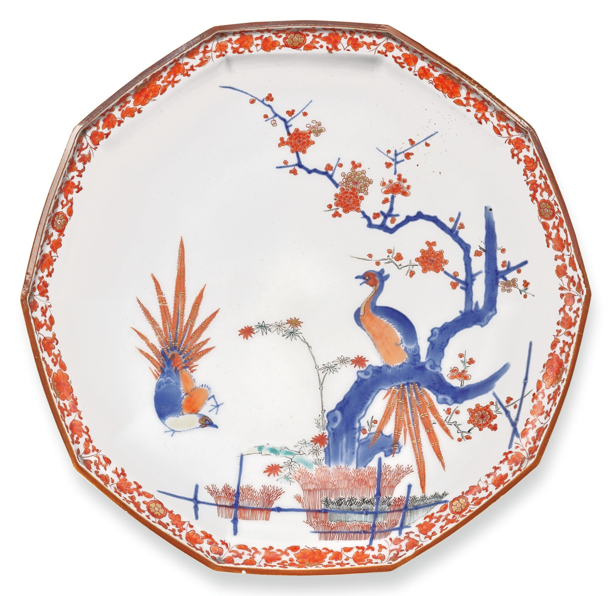 View full screen - View 1 of Lot 88. A PAIR OF KAKIEMON DISHES, FUKU MARKS, EDO PERIOD, LATE 17TH CENTURY.
