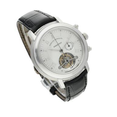 View 4. Thumbnail of Lot 368. Reference 25909BC Jules Audemars  A white gold tourbillon chronograph wristwatch, Circa 2000 .