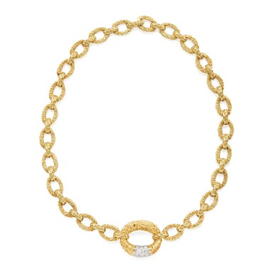 GOLD AND DIAMOND NECKLACE, VAN CLEEF & ARPELS