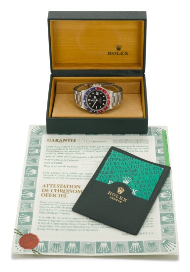 View 3. Thumbnail of Lot 1. ROLEX | GMT-MASTER, REFERENCE 16700, STAINLESS STEEL DUAL-TIME WRISTWATCH WITH DATE AND BRACELET, CIRCA 1991.