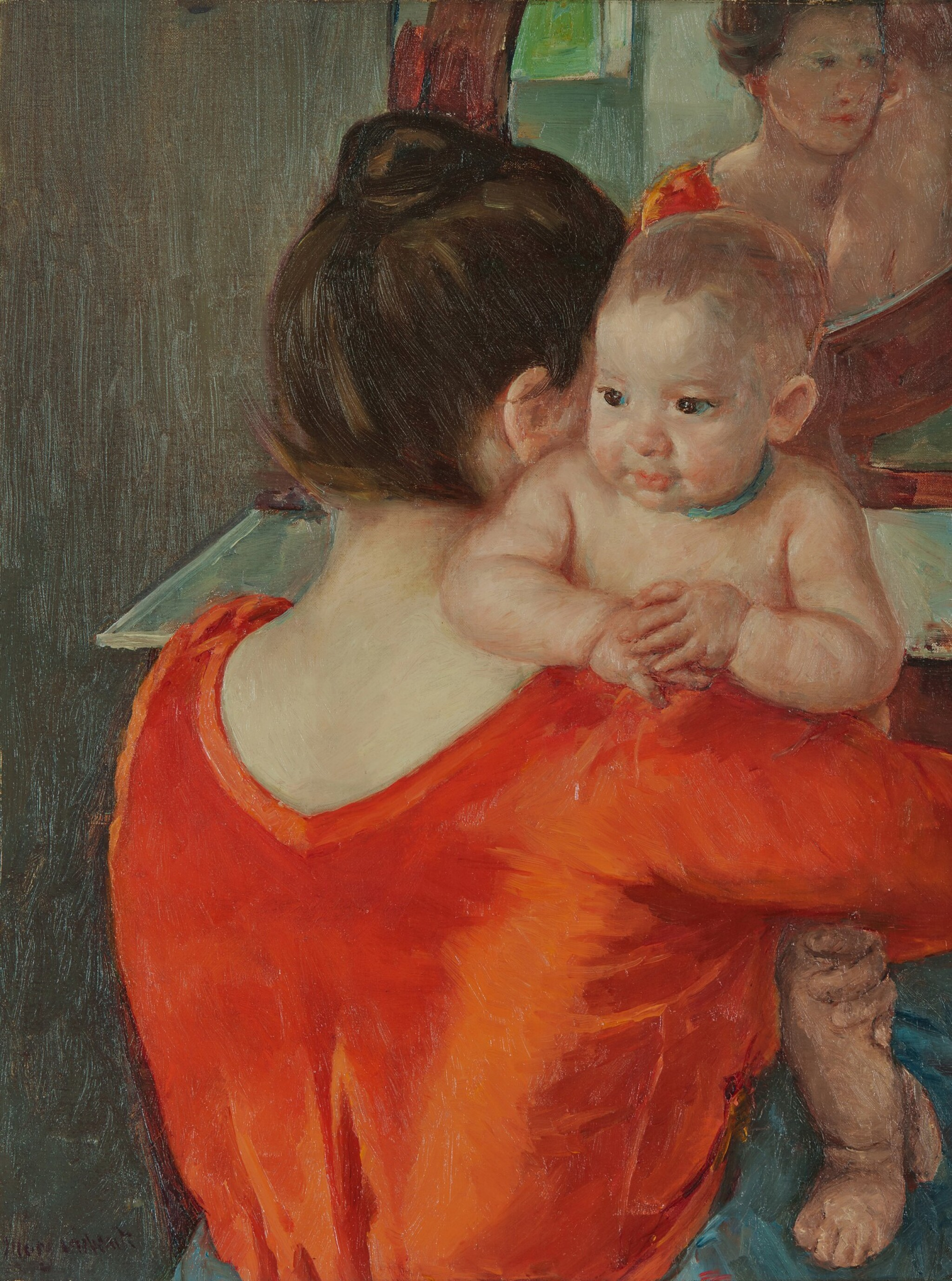 View full screen - View 1 of Lot 28. Baby Charles Looking Over His Mother's Shoulder (No. 3).