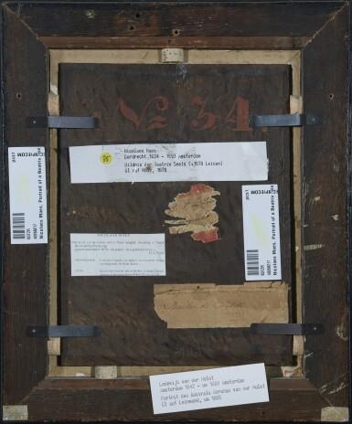 View 3. Thumbnail of Lot 212. NICOLAES MAES | PORTRAIT OF BEATRIX SNELS (D. 1678), BUST-LENGTH, WEARING A BLACK DRESS AND A BLACK CAP.