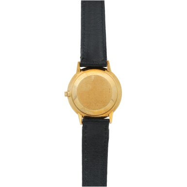 View 5. Thumbnail of Lot 35. REFERENCE 3893/100 RETAILED BY BEYER: A YELLOW GOLD WRISTWATCH, CIRCA 1990.