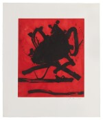 ROBERT MOTHERWELL   RED SEA II (WALKER ART CENTER 242)