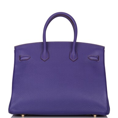 View 4. Thumbnail of Lot 19. Hermès Iris Birkin 35cm of Togo Leather with Gold Hardware.