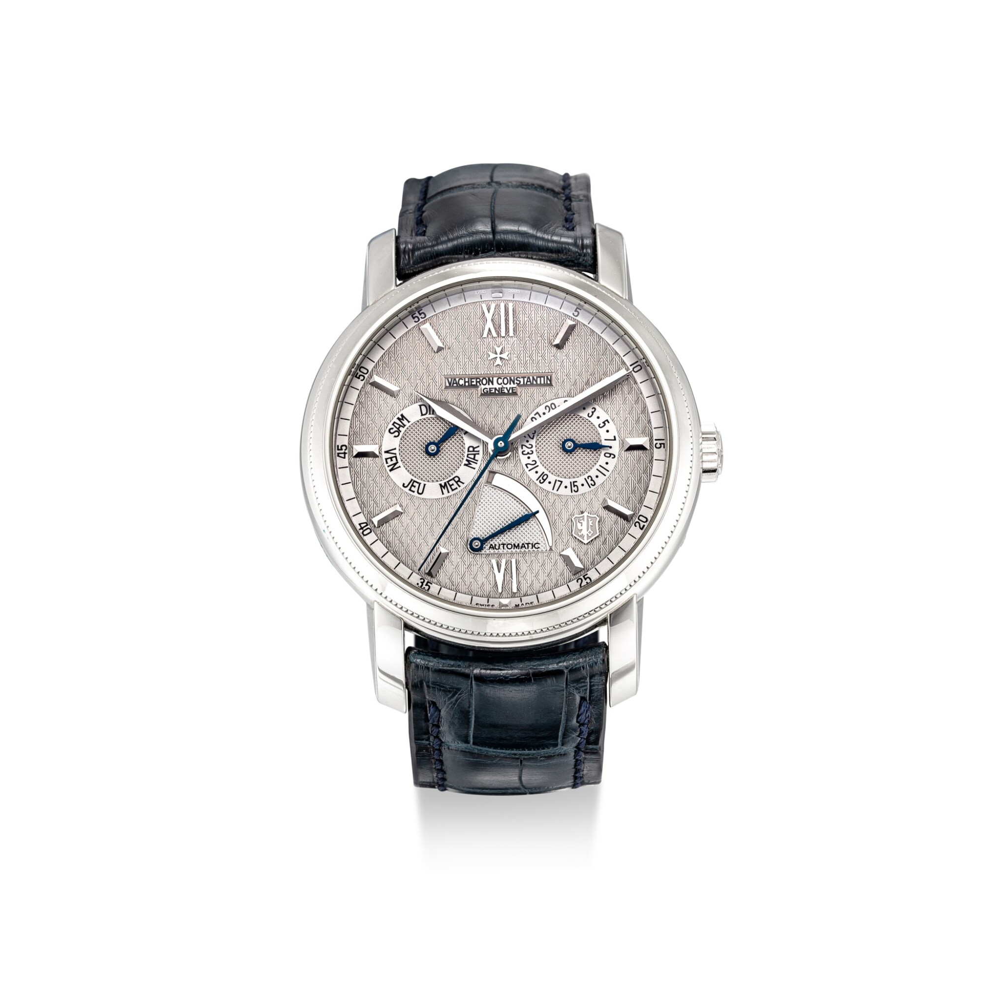 View full screen - View 1 of Lot 101. VACHERON CONSTANTIN | JUBILEE 1755, REFERENCE 85250 A LIMITED EDITION PLATINUM WRISTWATCH WITH DAY, DATE AND POWER RESERVE INDICATION, MADE TO COMMEMORATE THE 250TH ANNIVERSARY OF THE BRAND, CIRCA 2005.
