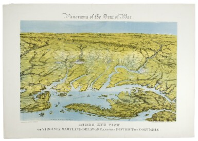 BACHMANN, JOHN | Panorama of the Seat of War. Virginia, Maryland Delaware, and DC. New York: Charles Magnus, 1864