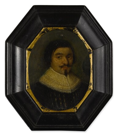 View 3. Thumbnail of Lot 54. Sold Without Reserve | AMSTERDAM SCHOOL, CIRCA 1630 | PORTRAIT OF A GENTLEMAN, BUST LENGTH, WEARING A RUFF; PORTRAIT OF A LADY, BUST LENGTH, WEARING A RUFFLED COLLAR AND WHITE LACE BONNET.