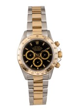 ROLEX | Daytona, Ref 16523 A Stainless Steel and Yellow Gold Chronograph Wristwatch with Bracelet Circa 1996