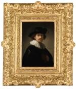 REMBRANDT HARMENSZ. VAN RIJN  |  SELF-PORTRAIT OF THE ARTIST, HALF-LENGTH, WEARING A RUFF AND A BLACK HAT