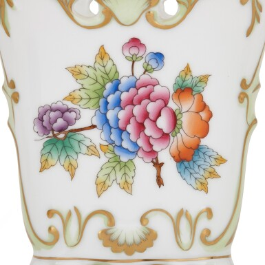 """View 6. Thumbnail of Lot 2. AN EXTENSIVE HEREND PORCELAIN """"VICTORIA"""" PATTERN COMPOSITE PART DINNER AND DESSERT SERVICE, 20TH CENTURY."""