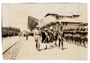 View 5. Thumbnail of Lot 157. Ethiopia | Album of photographs and press cuttings relating to the Coronation of Haile Selassie, November 1930.
