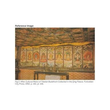 View 4. Thumbnail of Lot 309. THE GODDESS CARCIKĀ AND CONSORT, CHINA, BEIJING, QING DYNASTY (1644-1911),  QIANLONG PERIOD (1735-1796).