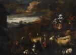 GIOVANNI BENEDETTO CASTIGLIONE CALLED IL GRECHETTO | Noah shepherding the animals onto the ark