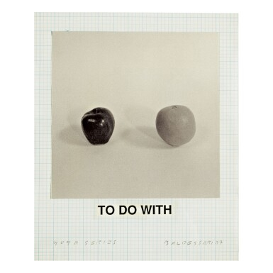 JOHN BALDESSARI | STUDY FOR GOYA SERIES: TO DO WITH