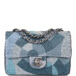 Chanel Multicolor Strass Flap Bag of Swarovski Crystals and Grey Leather with Silver Tone Hardware