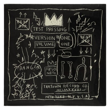 "View 1. Thumbnail of Lot 12. [Jean-Michel Basquiat] Rammellzee vs K-Rob | SEALED ""Beat Bop"" 12 inch single, 1983.."