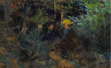 View 1. Thumbnail of Lot 144. Conversation in the Forest.