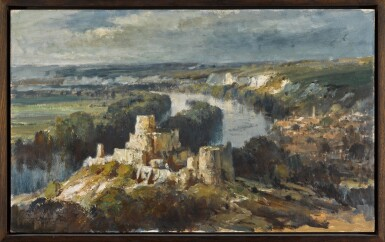View 2. Thumbnail of Lot 79. The Seine from Chateau Gaillard.