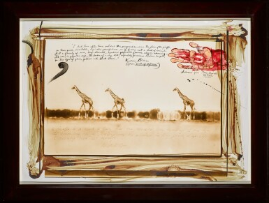 View 2. Thumbnail of Lot 102. PETER BEARD  |  GIRAFFES IN MIRAGE ON THE TARU DESERT, KENYA, JUNE 1960.