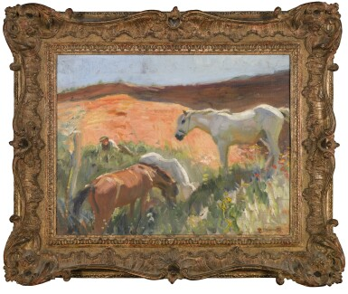 View 2. Thumbnail of Lot 176. SIR ALFRED JAMES MUNNINGS, P.R.A., R.W.S., P.R. | GRAVEL PIT IN SUFFOLK.