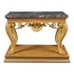 A GEORGE II GILTWOOD PIER TABLE, IN THE MANNER OF WILLIAM KENT, PROBABLY LATE 19TH CENTURY
