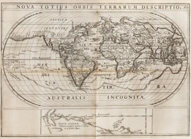 View 5. Thumbnail of Lot 199. SPILBERGEN. Speculum orientalis occidentalisque Indiae navigationum. Leyde, 1619. In-8 oblong. Vélin de l'ep..