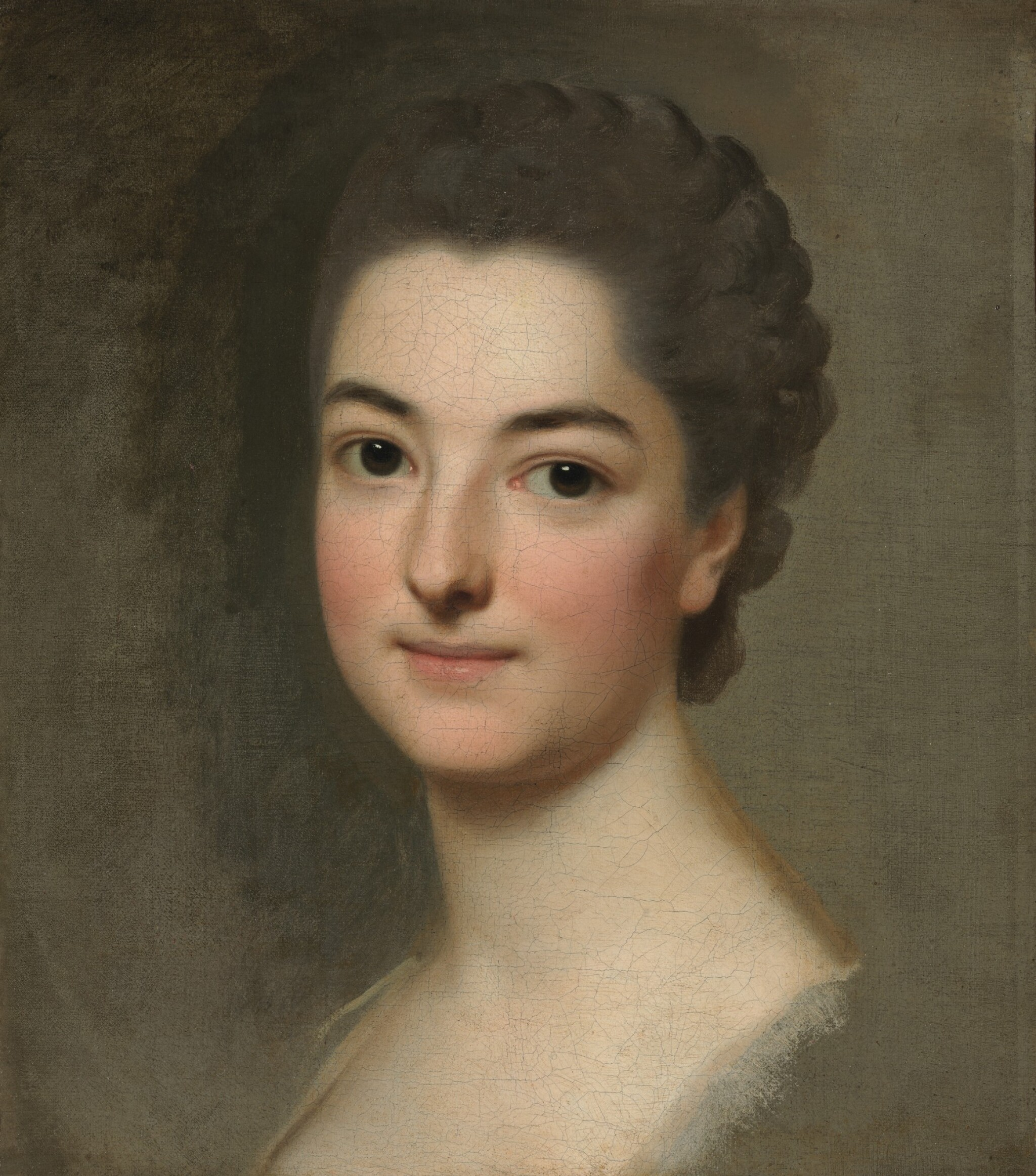 View full screen - View 1 of Lot 148. ALEXANDER ROSLIN     STUDY OF THE HEAD OF A WOMAN, PERHAPS THE ARTIST'S WIFE, NÉE MARIE SUZANNE GIROUST.
